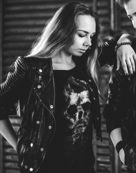 Koszulka CZASZKA ROCKABILLY