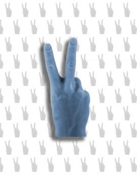 świeca PEACE&LOVE / VICTORIA niebieski jeansowy