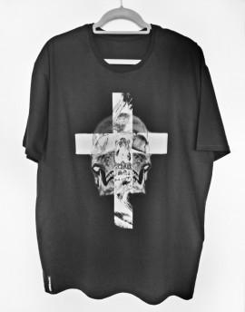 Koszulka  Krzyż i czaszka black