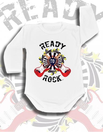 body-dzieciece-bawelna-biale-ready-to-rock