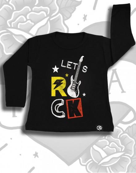 Longsleeve dziecięcy LET'S ROCK czarny