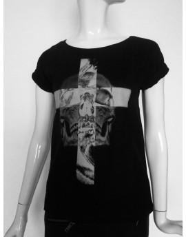 Koszulka damska KRZYŻ & CZACHA black