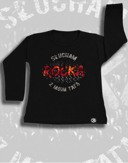 Longsleeve dzieciecy Rock2weaR Slucham rocka z