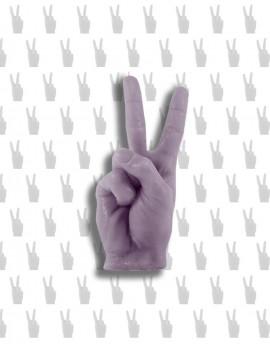 świeca PEACE&LOVE / VICTORIA wrzosowy