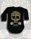 Body dziecięce Rock2weaR bawelna czarne candy skull zelki lizaki